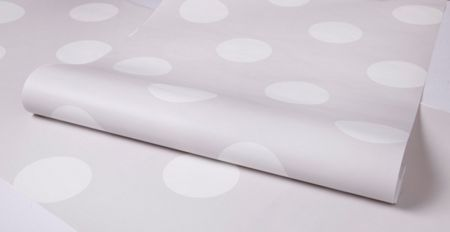 Graham & Brown Pale Grey Dotty Wallpaper