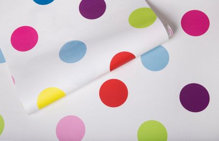 Graham & Brown Multi coloured Dotty Bright Polkadot Wallpaper