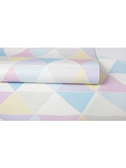 Pastel Coloured Harlequin Diamond Wallpaper