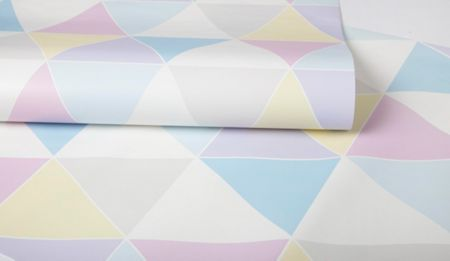Graham & Brown Pastel Coloured Harlequin Diamond Wallpaper