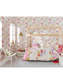 Girls Bedroom Cute Olive The Owl Wallpaper