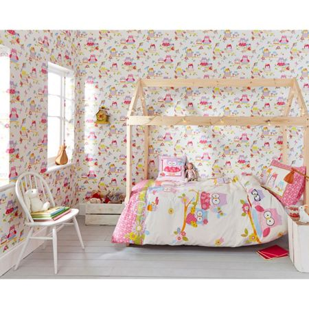 Graham & Brown Girls Bedroom Cute Olive The Owl Wallpaper
