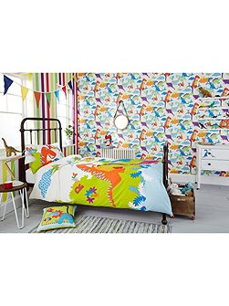 Kids Bedroom Bright Dinosaurs Wallpaper