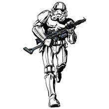 Star Wars Storm trooper lifesize sticker