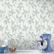 Graham & Brown Duck Egg Leaf Trail Wallpaper