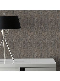 Matrix Black & Bronze Textured Plain Wallpaper
