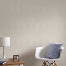 Graham & Brown Cream Geometric Print Wallpaper with Glitter