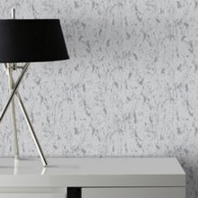 Graham & Brown Milan Silver Natural Cork Texture Wallpaper