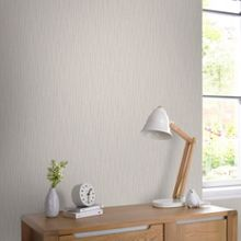 Graham & Brown Cream & Silver Vienna Stripe Wallpaper