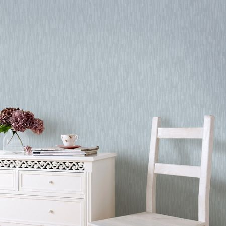 Graham & Brown Blue & Silver Viennna Wallpaper with Glitter