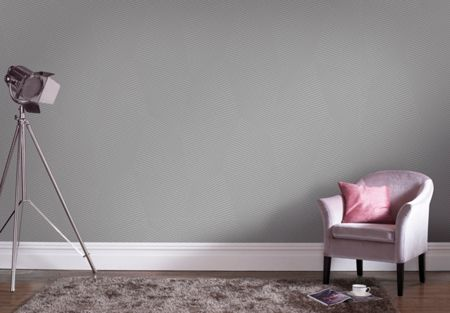 Graham & Brown Mode Grey Geometric Shimmer Print Wallpaper