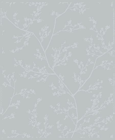 Graham & Brown Grey & Silver Subtle Leaf Design Wallpaper