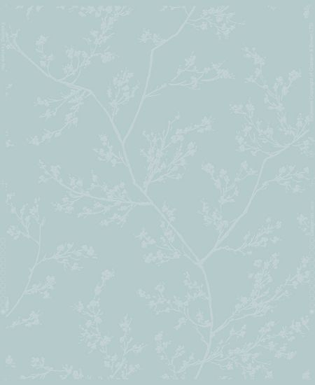 Graham & Brown Blue & Grey Subtle Leaf Design Wallpaper