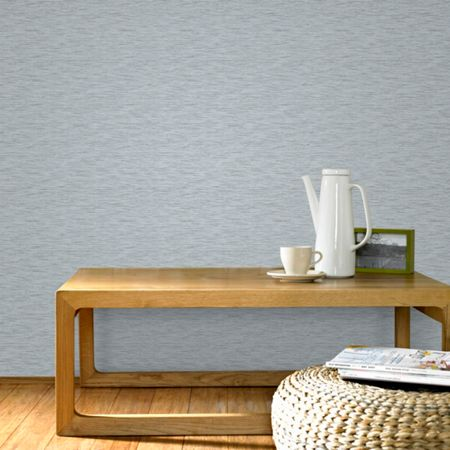 Graham & Brown Grey & Silver Linear Textured Metallic Wallpaper