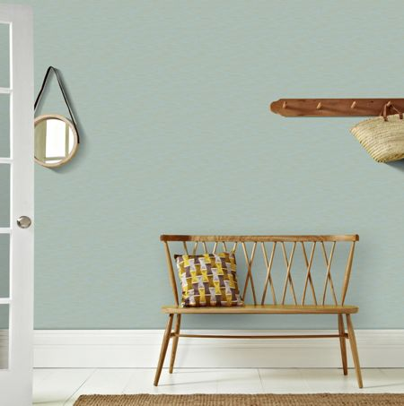 Graham & Brown Aqua & Gold Linear Textured Metallic  Wallpaper