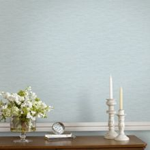 Graham & Brown Blue & Grey Linear Textured Metallic  Wallpaper