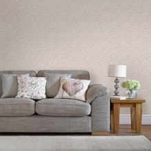 Graham & Brown Rose Gold Linear Textured Metallic Wallpaper