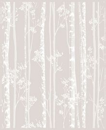 Graham & Brown Linden Beige & White Branch Shimmer Wallpaper