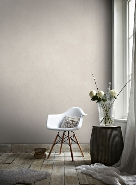 Graham & Brown Tranquil Rose Gold Plain Natural Effect Wallpaper
