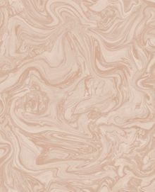 Graham & Brown Marbled Effect Rose Gold Metallic Wallpaper