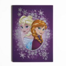 Disney Frozen Anna & elsa purple glitter wall art