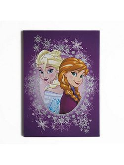 Anna & elsa purple glitter wall art