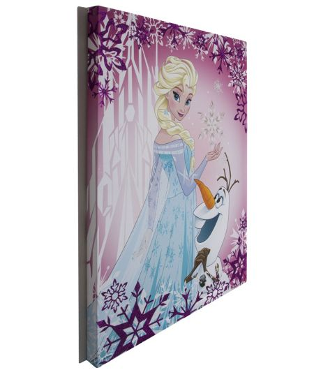Disney Frozen Elsa & olaf glitter purple wall art