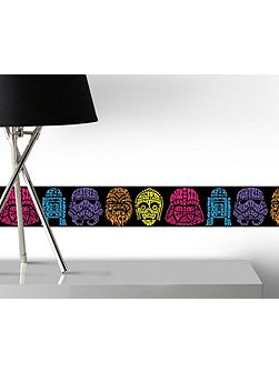 Star Wars Neon Head Wall Border