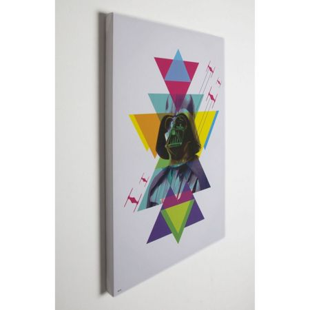 Star Wars Neon darth vader printed canvas