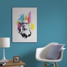 Star Wars Neon stormtrooper printed canvas