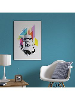Neon stormtrooper printed canvas