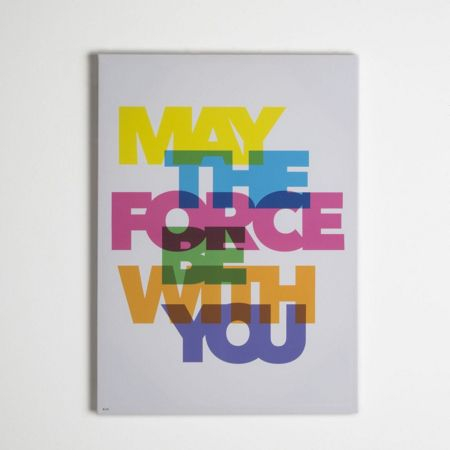 Star Wars Neon may the force be with you canvas