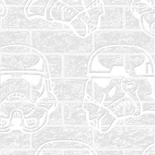 Graham & Brown Star Wars Paintable Brick Effect Wallpaper