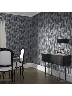 Boutique Tango Geometric Charcoal Wallpaper