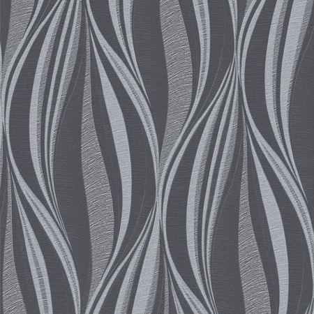 Graham & Brown Boutique Tango Geometric Charcoal Wallpaper