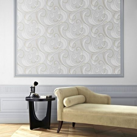 Graham & Brown Flamenco Textured Geometric Grey Wallpaper