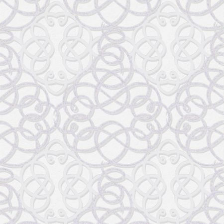 Graham & Brown Ribbon Dance Damask Grey Metallic Wallpaper