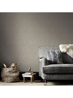 Samba Textured Plain Metallic Taupe Wallpaper