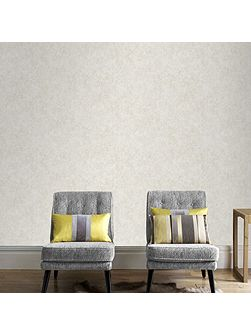Samba Plain Metallic Ivory Wallpaper