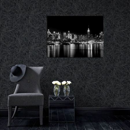 Graham & Brown Twist Metallic Grey/Silver Wallpaper