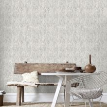 Graham & Brown Boutique Devore Metallic White/Silver Wallpaper