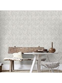 Boutique Devore Metallic White/Silver Wallpaper