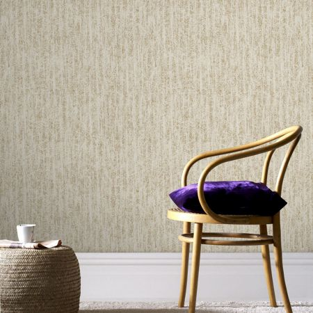 Graham & Brown Boutique Devore Metallic Beige/Gold Wallpaper