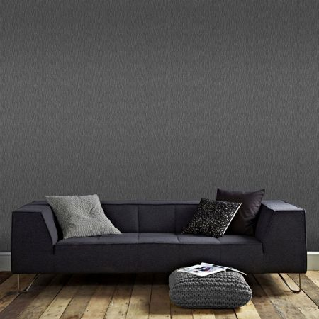 Graham & Brown Boutique Shimmer Textured Charcoal Grey Wallpaper