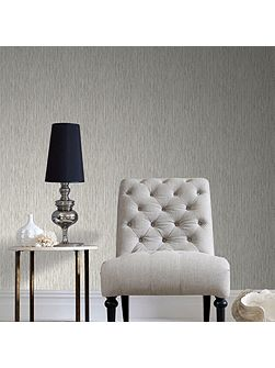 Boutique Grasscloth Cream Textured Wallpaper