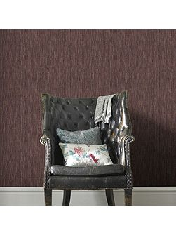 Boutique Grasscloth Burgundy and Copper Wallpaper