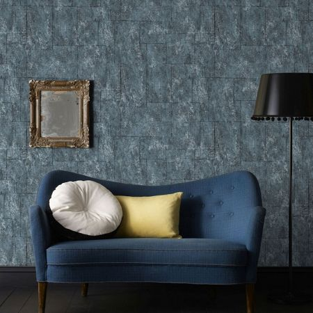 Graham & Brown Boutique Mineral Blue Plain Wallpaper