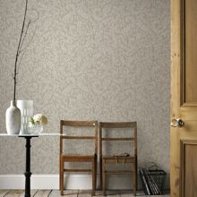 Graham & Brown Boutique Cashmere Metallic Cream/Gold Wallpaper