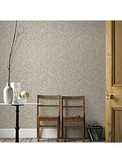 Boutique Cashmere Metallic Cream/Gold Wallpaper