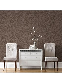 Boutique Cashmere Chocolate/Copper Wallpaper